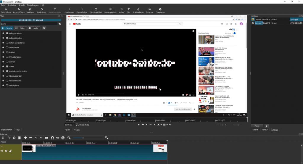 ShotCut kostenloses Tool für die Videoerstellung